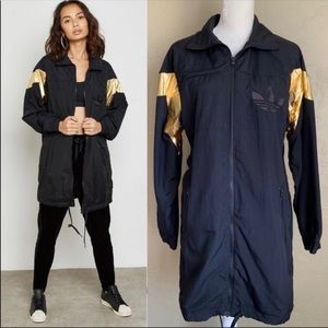 Adidas Black Gold Long Track Jacket Med